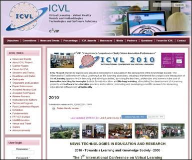 ICVL 2010 - website