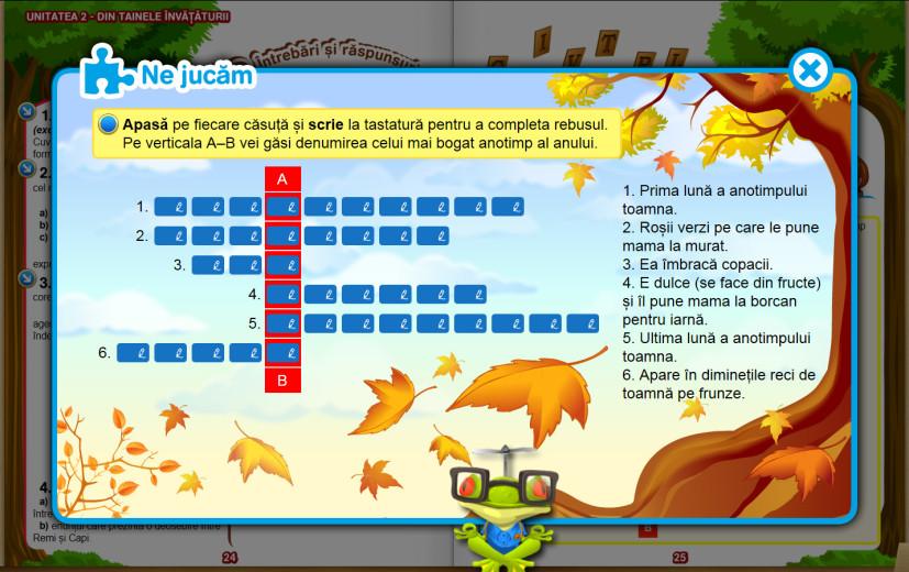 Activitate interactivă - Rebus educațional