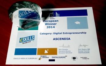 Ascendia Design – Recunoaștere la nivel înalt pentru România – compania câștigă eSkills 2014