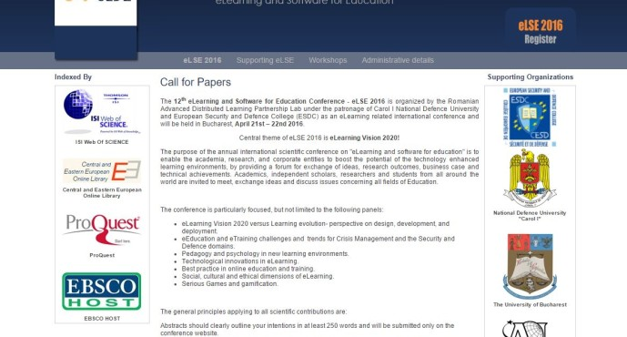 eLSE 2016 – Call for Papers