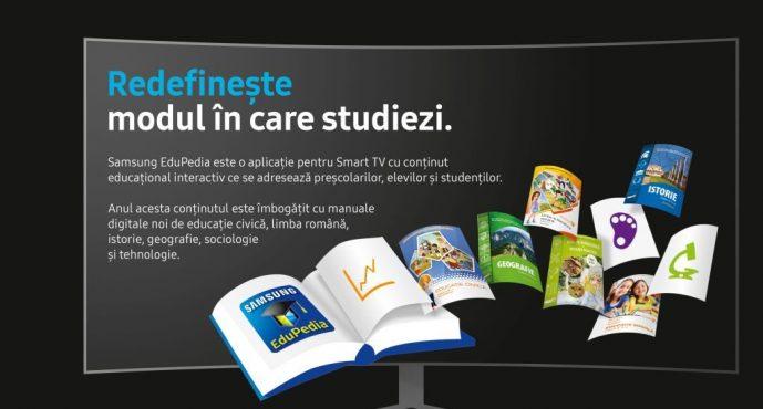 Samsung EduPedia™ 2017: șase manuale digitale noi, teste vocaționale, cărți și conținut interactiv nou