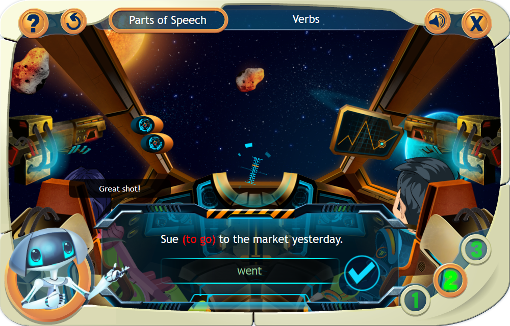 Verbs - elearning games