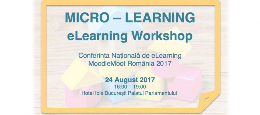 Conferința Națională de eLearning – MoodleMoot România 2017.